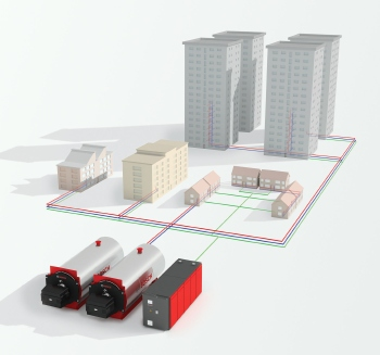 Bosch Commercial and Industrial, district heating, community heating, Energy efficient building systems, energy efficiency