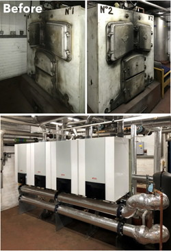 Dunsville Primary School, Doncaster, Elco, boilers, replaced